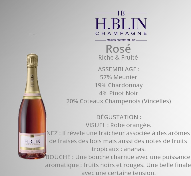 Champagne H.Blin Rosé Small